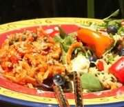 Pasta Delight with Greek Orzo Spinach Salad