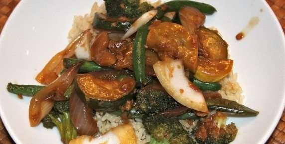 Brown Rice & Veggie Stir Fry