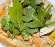 Hummus Tunafish Sandwich