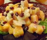 Persimmon and Pomegranate Fruit Salad