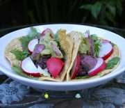 Cilantro Lime Black Bean Tacos