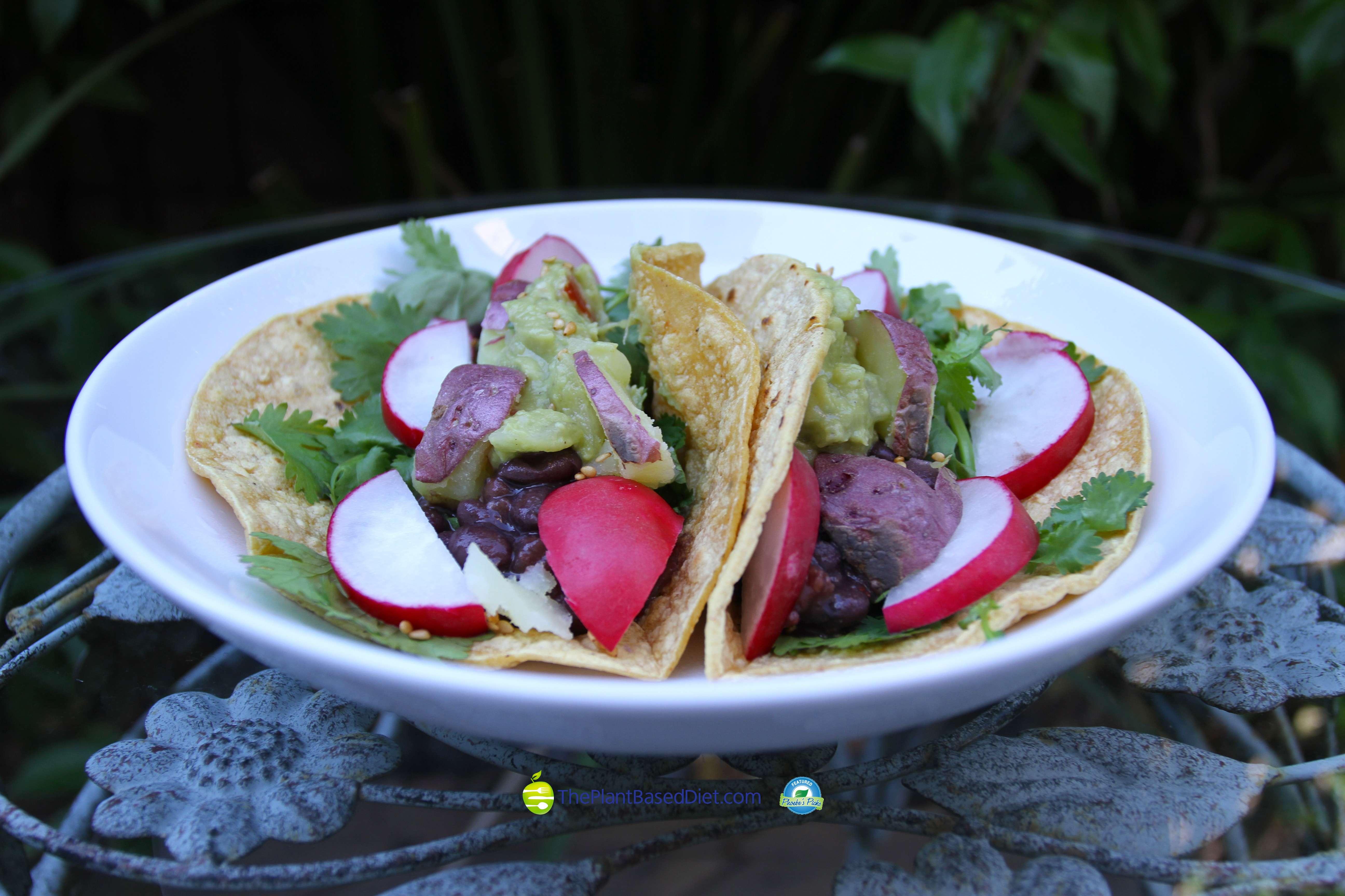 Cilantro Lime Black Bean Tacos