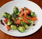 Sesame Garlic Brussels Sprouts