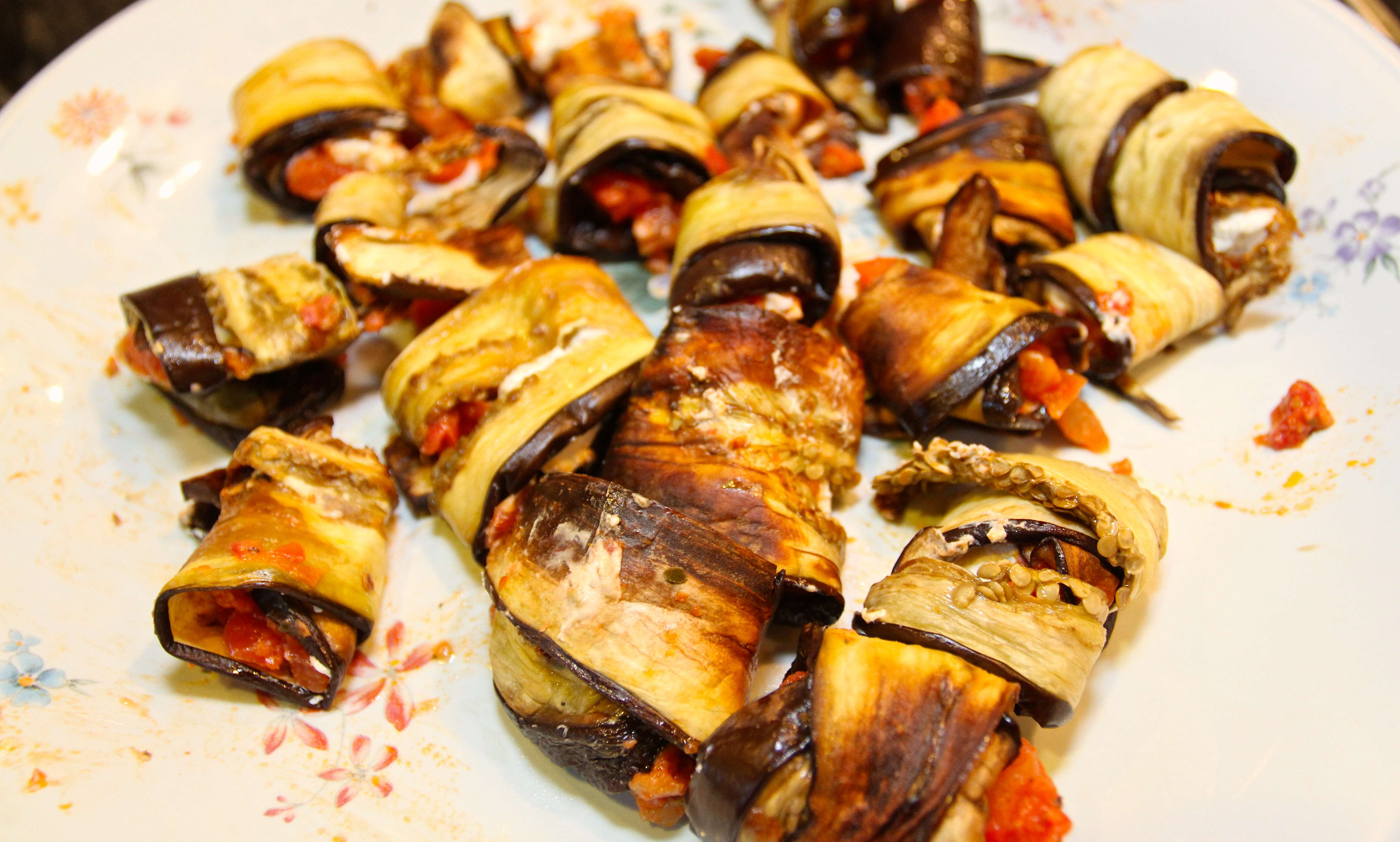 Stuffed Grilled Eggplant Rolls