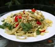 Creamy Pesto Pasta With Nut Cheese