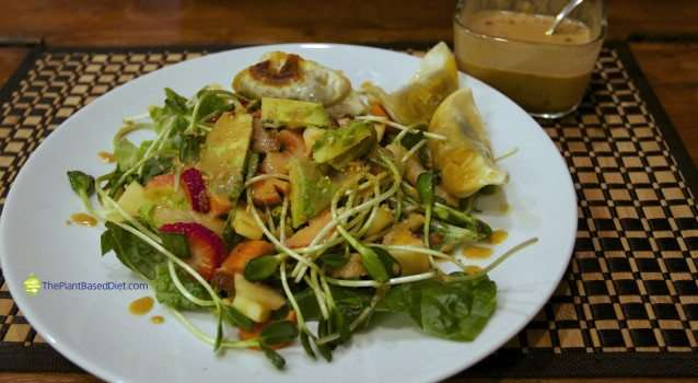Chinese Salad With Peanut Sauce