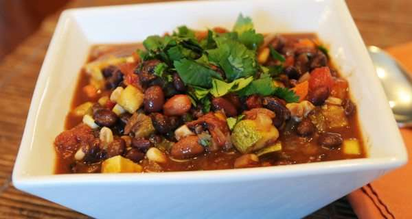 Spicy 'Vegged-Out' Black Bean Chili