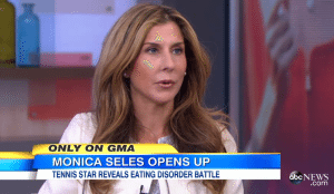 Monica Seles binge-eating disorder