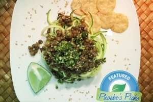 Zucchini Noodles With Lentils