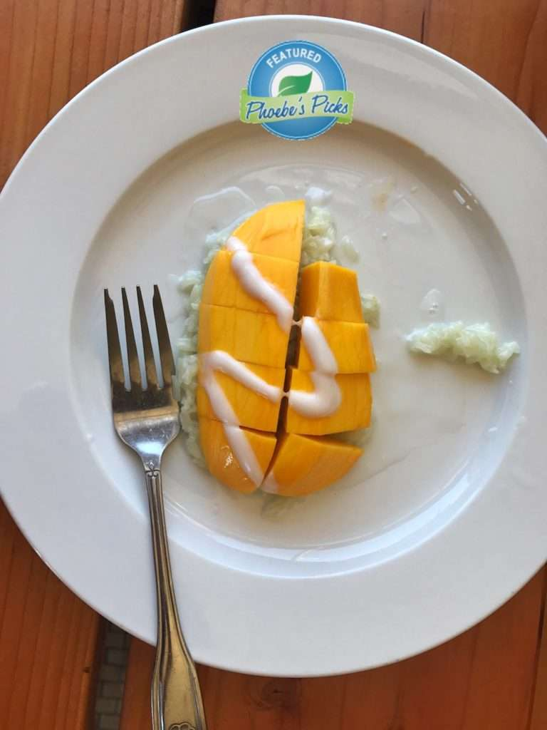 Thai mango with sticky rice dessert